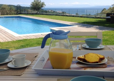 breakfast in Skiathos Luxury Villas