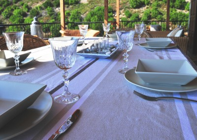 dining table luxury villa in skiathos