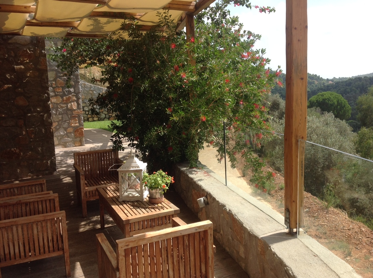 terrace in villa in Skiathos