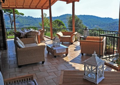 terrace view from Greek luxury villa