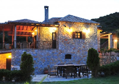 luxury villa in Skiathos by night