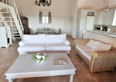 skiathos luxury villa white living+kitchen